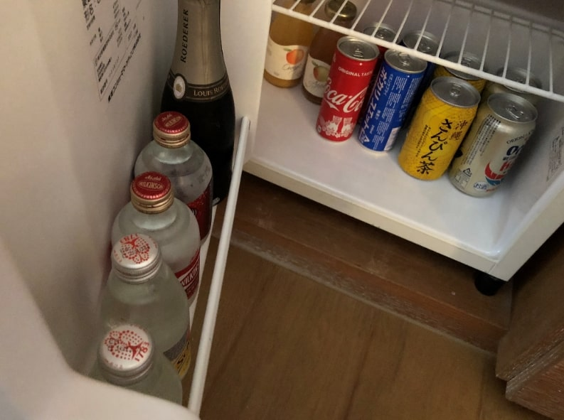リッツカールトン沖縄の冷蔵庫