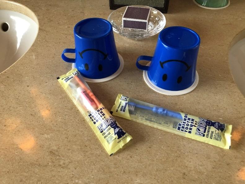 リッツカールトン沖縄の子ども用歯ブラシ