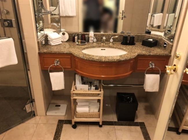 名古屋マリオットアソシアホテルの洗面台