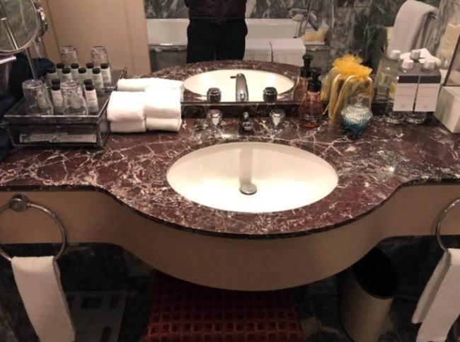 神戸ベイシェラトンの洗面台