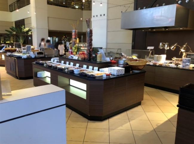 神戸ベイシェラトンの朝食コーナー