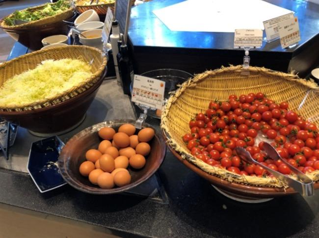 神戸ベイシェラトンの野菜コーナー