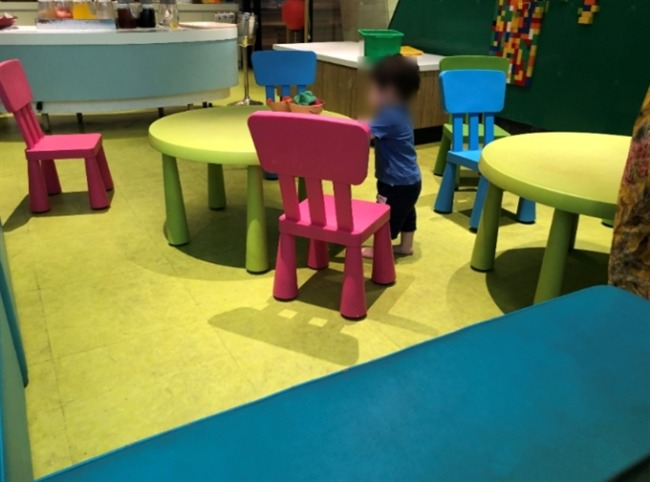 シェラトン沖縄の子ども用テーブル