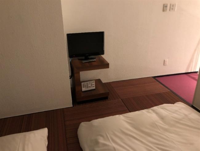 シェラトン沖縄の2階テレビ