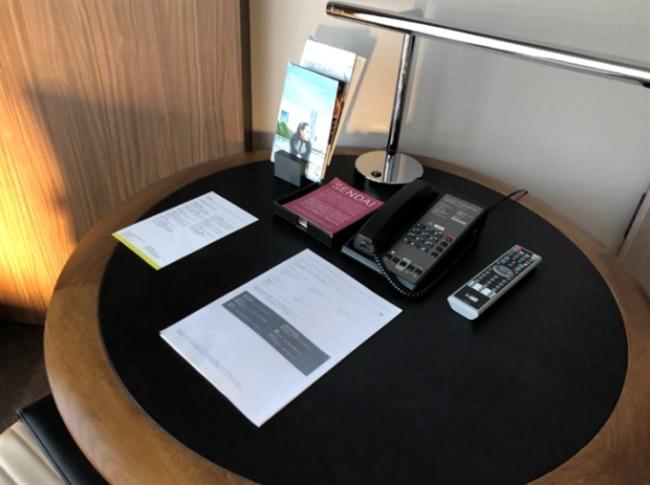 仙台ウェスティンのテーブル