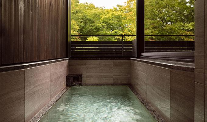 軽井沢マリオットホテルの部屋付き温泉
