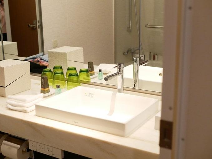 軽井沢マリオットホテルの洗面台