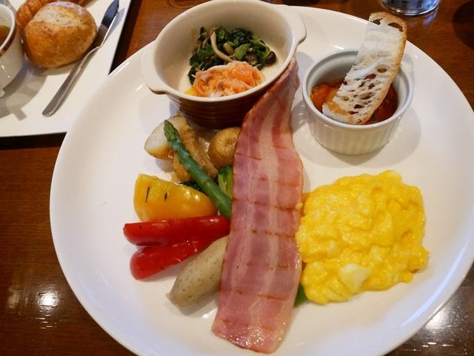 軽井沢マリオットホテルの朝食(メイン)