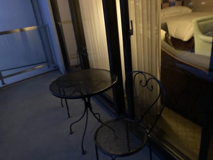 シェラトン都ホテル東京のバルコニー